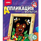 """Аппликация из фольги """"Любопытный мишка"""", LORI"""