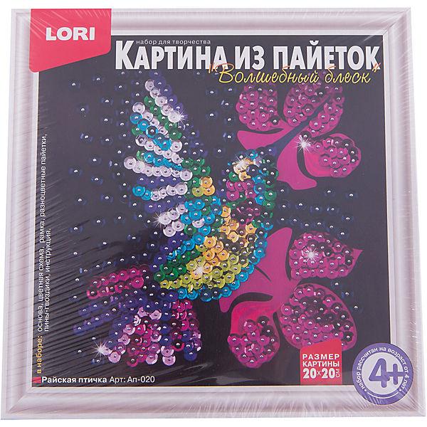 "Картина из пайеток ""Райская птичка"", LORI"