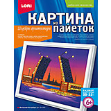 "Картина из пайеток ""Вечерний Петербург"", LORI"
