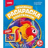 """Раскраска пластилином объемная """"Сказочная рыбка"""", LORI"""
