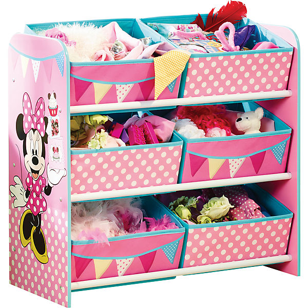 6 boxen regal minnie mouse disney minnie mouse mytoys. Black Bedroom Furniture Sets. Home Design Ideas