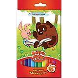 """Трехгранные цветные карандаши """"Винни-Пух"""" 12 цветов"""