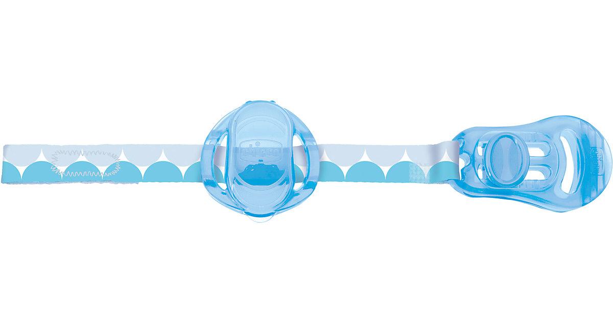 Schnullerband mit Saugerschutz, blau