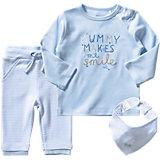 STACCATO Baby Set Langarmshirt + Hose + Dreieckstuch für Jungen