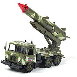 """Машина ГАЗ 66: Ракета """"Военные силы"""", 1:43, со светом и звуком, ТЕХНОПАРК"""