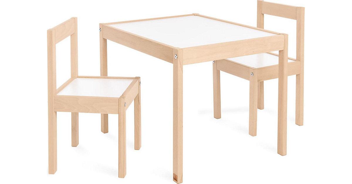 Sitzgruppe Olaf , 3-tlg., Kiefer, Dekor weiß