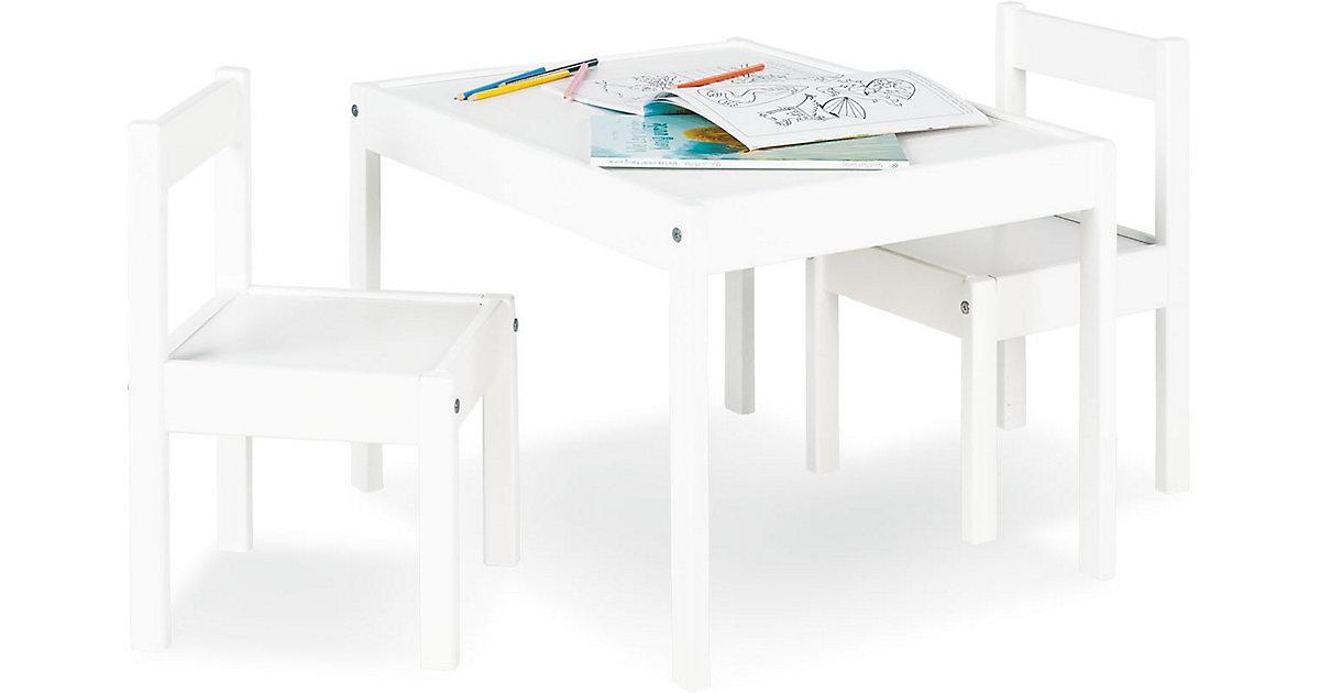 Sitzgruppe Sina, 3-tlg., Kiefer, weiß