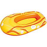 Надувная лодка с двухкамерным бортом, Bestway, желтая