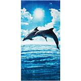 """Пляжное полотенце """"Прыжки дельфинов"""" 60*120 см"""