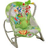 """Портативное кресло-качалка """"Веселые обезьянки из тропического леса"""", Fisher-price"""