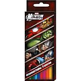 """Фломастеры """"Мстители"""" 6 цветов, Marvel"""