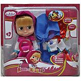 Кукла Маша (с 3мя комплектами одежды), со звуком, Маша и Медведь, Карапуз
