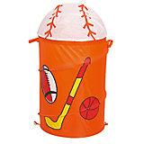 """Оранжевая корзина для игрушек """"Спорт"""""""