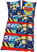 Wende- Kinderbettwäsche, Feuerwehrmann Sam, Flanell, 135 x 200 cm
