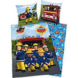 Wende- Kinderbettwäsche, Feuerwehrmann Sam, Renforcé, 135 x 200 cm