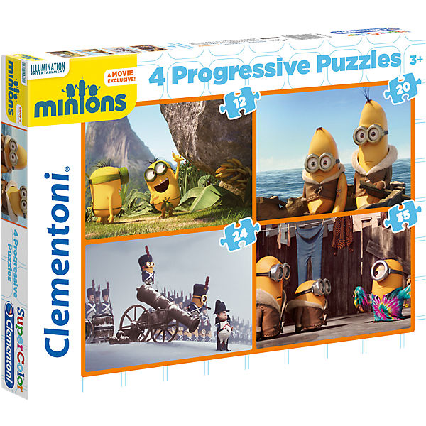4in1 Puzzle Set - 12/20/24/35 Teile - Minions