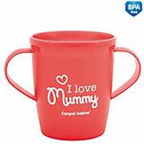 """Чашка """"I love Mummy"""", Canpol Babies, красный"""
