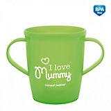 "Чашка ""I love Mummy"", CanpolBabies, зеленый"