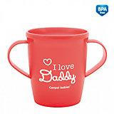 """Чашка """"I love Daddy"""", Canpol Babies, красный"""