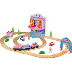 Деревянная железная дорога. Кукольный паравозик, ROYS