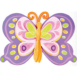 """Декоративная наклейка """"Фиолетовая бабочка"""" 35,5*25 см"""