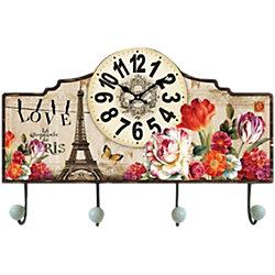 """Настенные часы """"Весенний Париж"""" с крючками"""
