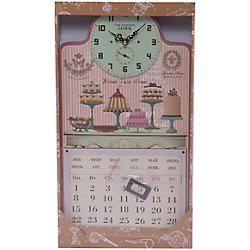 """Настенные часы """"Тортики"""" с календарем"""