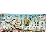 """Настольные часы """"Путешествие в Париж"""" с календарем"""