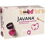 Kreativset Schablonen-Set auf Stoff Javana