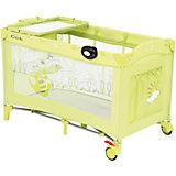 Манеж-кровать SWEET TIME, CROCODILE, Capella, зеленый