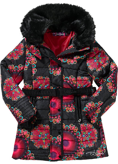 desigual winterjacke f r m dchen desigual schwarz mytoys. Black Bedroom Furniture Sets. Home Design Ideas