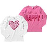 ESPRIT Langarmshirt Doppelpack für Mädchen