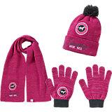RED HORSE Set: Schal, Handschuhe, Mütze für Mädchen