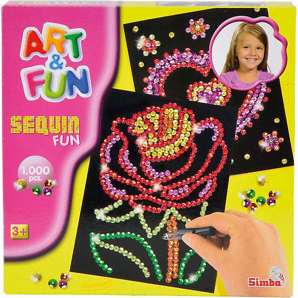 Art & Fun Sequin Fun Blume/Herz