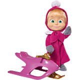 Кукла Маша со снегокатом, Маша и Медведь, Simba