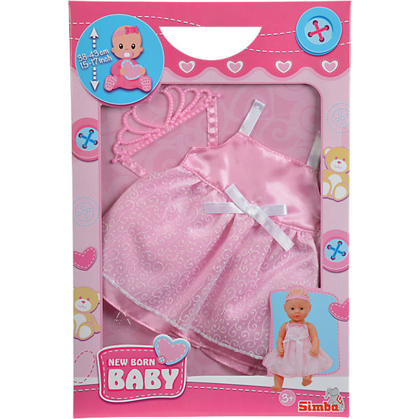 Puppenkleidung Prinzessin Outfit, 38-43cm
