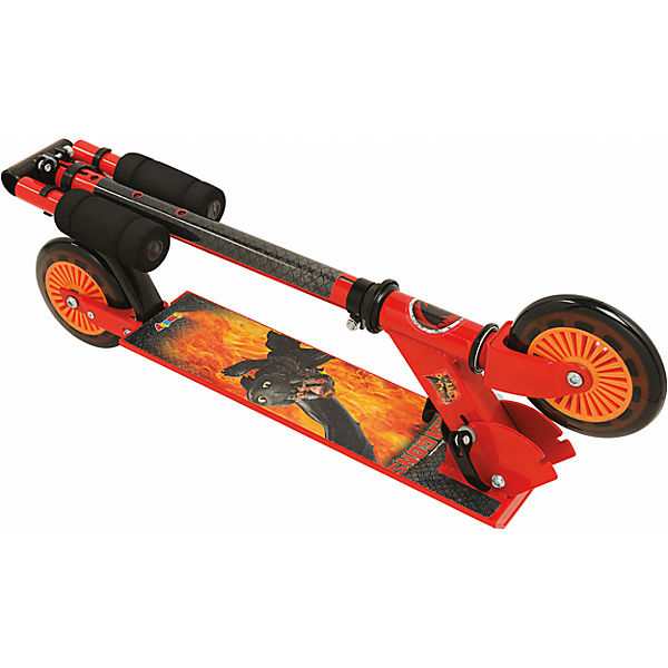 dragons scooter mit bremse zusammenklappbar dragons mytoys. Black Bedroom Furniture Sets. Home Design Ideas