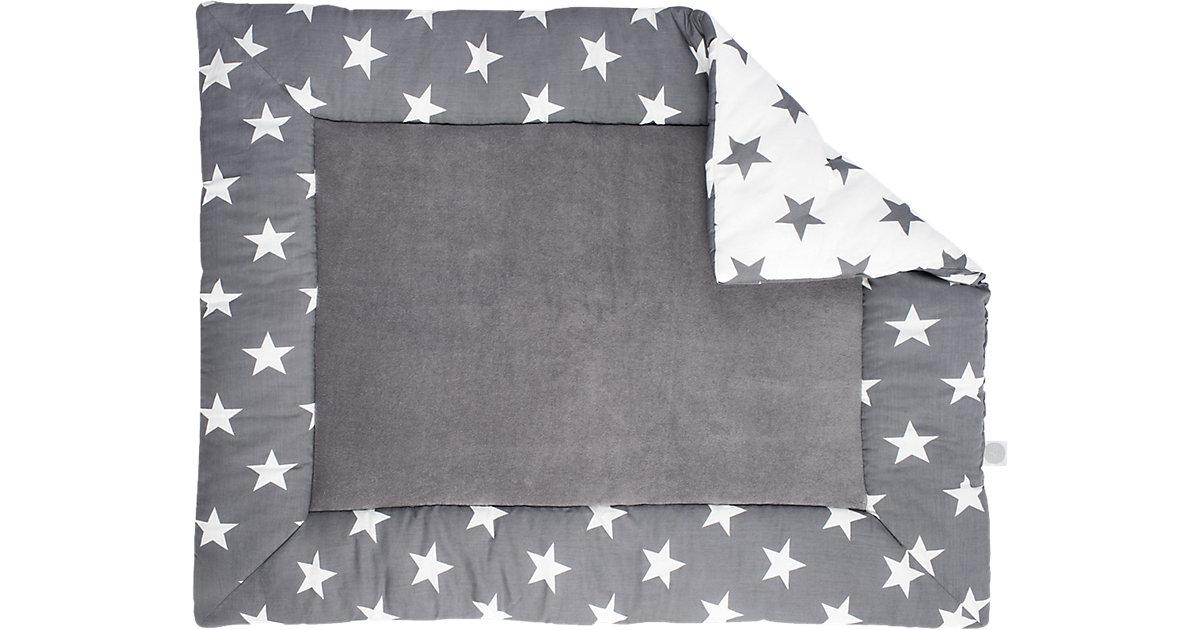 Krabbeldecke, Little Star, grau, 80 x 100 cm