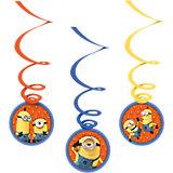 Deko-Spiralen Minions, 6 Stück