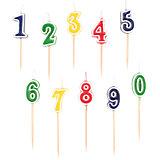 Zahlenkerzen-Set 0-9 , 10-tlg.