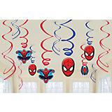 Deko-Spiralen Spiderman, 12-tlg.
