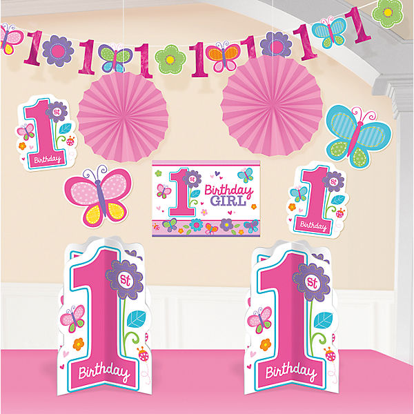 Deko-Set Sweet Birthday Girl , 10-tlg.