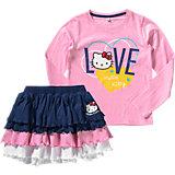 HELLO KITTY Set Langarmshirt + Rock für Mädchen