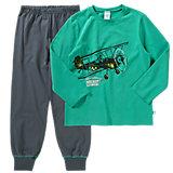 SANETTA Schlafanzug für Jungen Flugzeug
