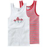 SANETTA Unterhemden Doppelpack für Mädchen Pilz