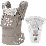Von-Geburt-an-Paket Babytrage Original, Galaxy Grey, inkl. Neugeborenen-Einsatz