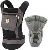 Von-Geburt-an-Paket Babytrage Performance, Black Charcoal, inkl. Neugeborenen-Einsatz