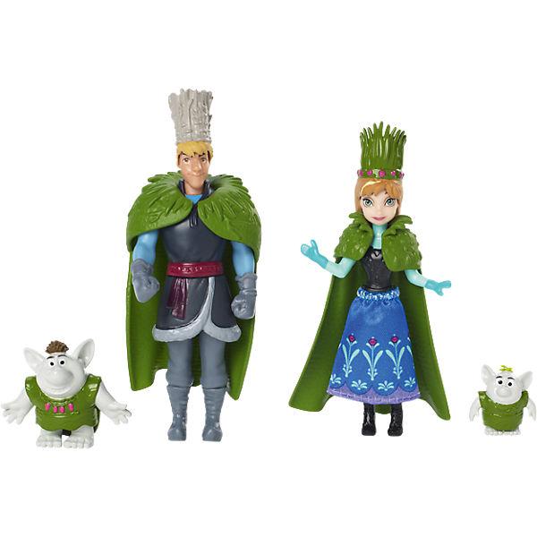 """Куклы Анна и Кристоф """"Холодное Сердце"""", в наборе с 2 троллями, Принцессы Дисней"""