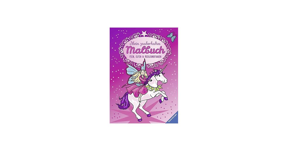Buch - Mein zauberhaftes Malbuch: Feen, Elfen und Meerjungfrauen