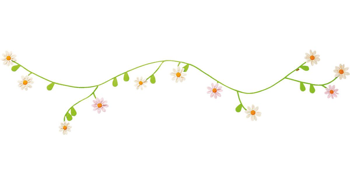 301520 Stoffgirlande Gänseblümchen grün